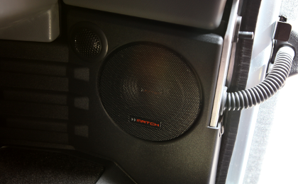Custom Fit MS42C Componeont 10cm speakers in Landrover Defender