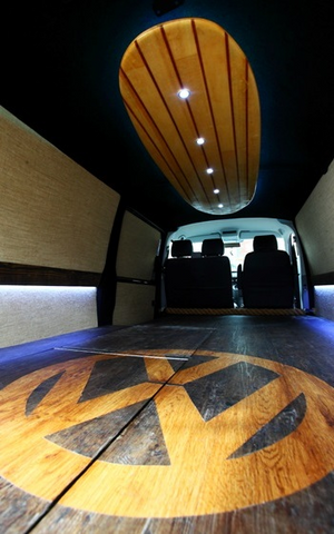 VW T5 false floor full shot rear