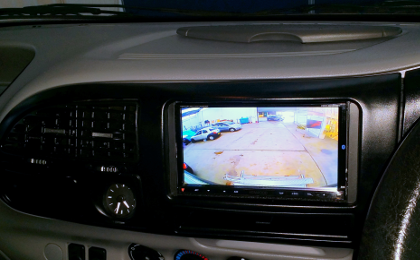 Ford Transit with double DIN with camera active