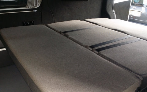 vw t5 day van full width rib bed down