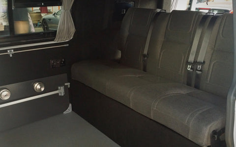 vw t5 day van full width rib bed up