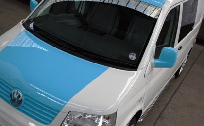 VW T5 Transporter Camper Blue and White