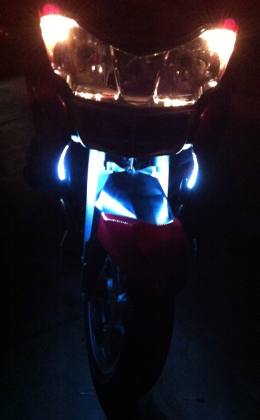 BMW R1200RT Front Running Lights Dark