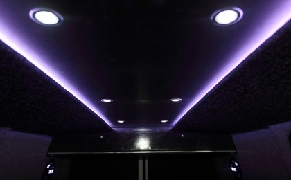 VW T5 Roof Lights With Spotlights On