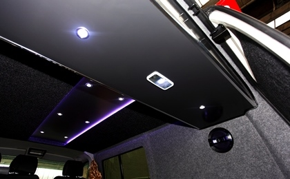 VW T5 Day Van Rear Box With Lighting