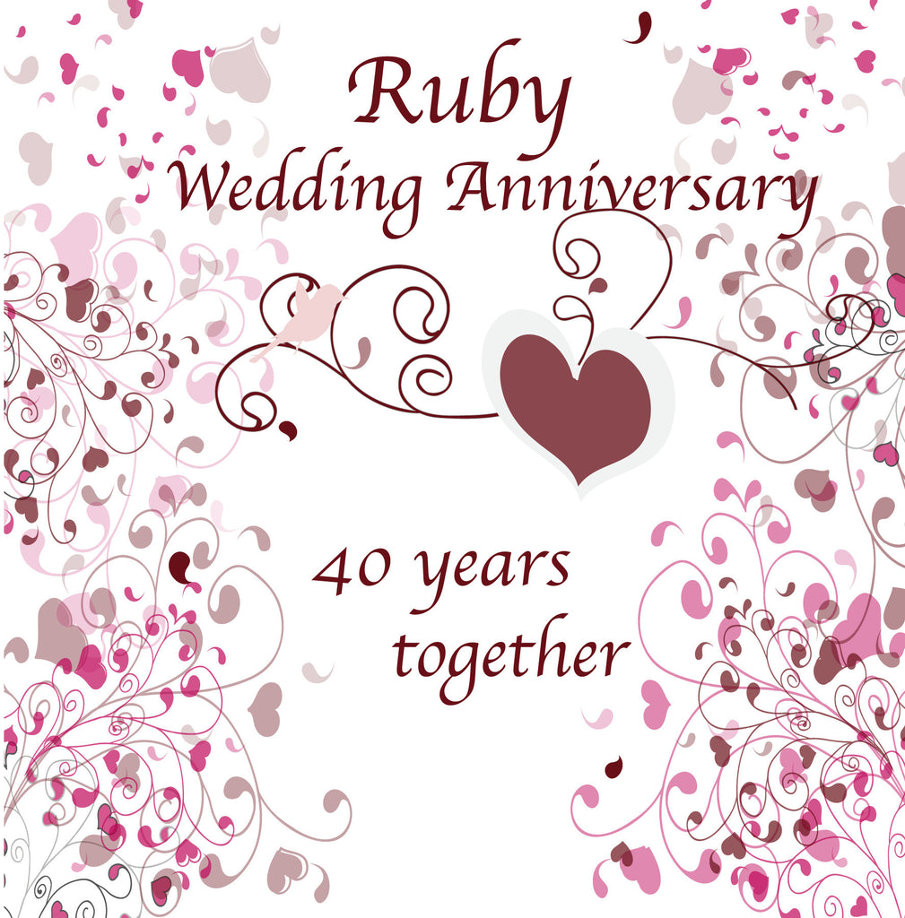Ruby Wedding Anniversary Gift Experiences : Happy 40th Anniversary Glasses The Gift Experience