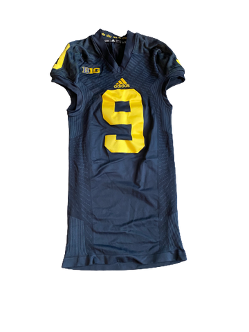 Mike McCray Michigan Football Signed Game Worn Jersey