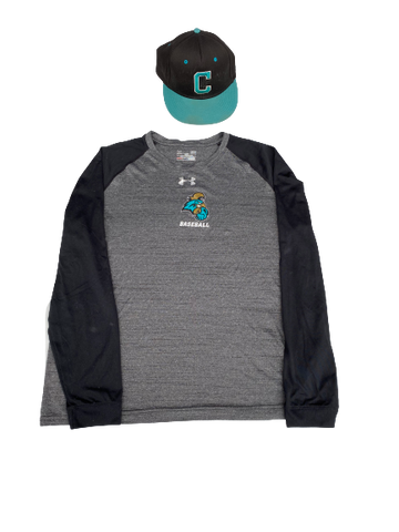 Anthony Veneziano Coastal Carolina Long Sleeve Shirt & Game Worn Hat