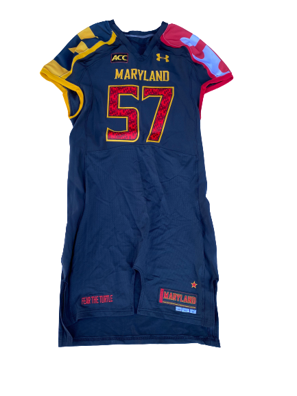 Kingsley Opara Maryland Football Game Issued Jersey (Size 48 Tall)