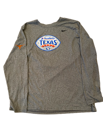 "Tim Yoder Texas Football Player Exclusive ""Texas Bowl"" Long Sleeve Shirt (Size XL)"