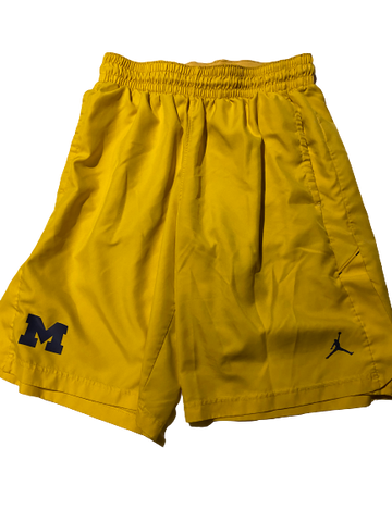 Charles Matthews Michigan Team Issued Shorts (Size L)