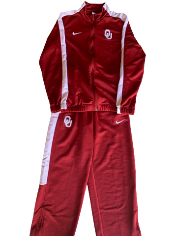 James Fraschilla Oklahoma Basketball Full Travel Suit - Jacket AND Pants (Size M)