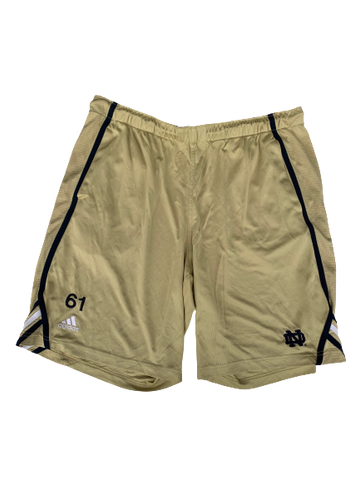 Scott Daly Notre Dame Football Workout Shorts with #61 (Size XL)