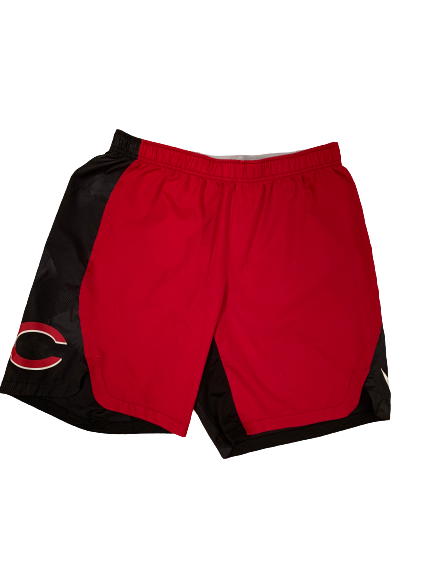 Packy Naughton Cincinnati Reds Workout Shorts (Size XL)