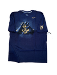 Navy Football T-Shirt (Size XL)