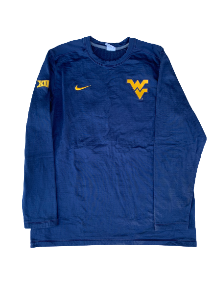 Chase Illig West Virginia Baseball Crew Neck Sweatshirt (Size XL)
