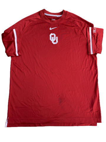 James Fraschilla Oklahoma Basketball Short Sleeve Shooting Shirt (Size L)