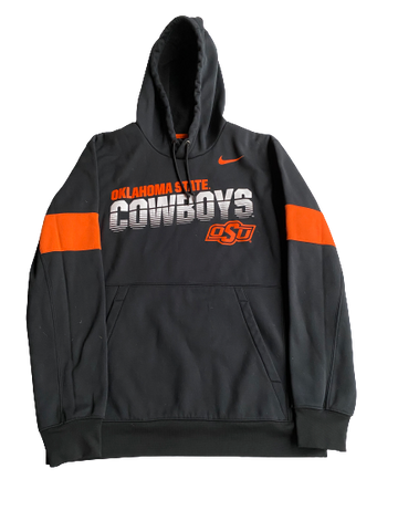 Kaden Polcovich Oklahoma State Team Issued Hoodie (Size M)