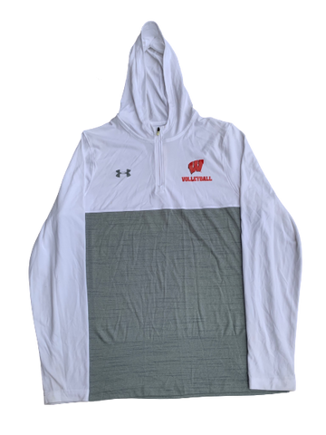 Tionna Williams Wisconsin Volleyball 1/4 Zip with Hood (Size M)