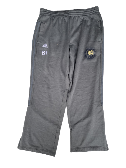 Scott Daly Notre Dame Football Sweatpants with #61 (Size XL)