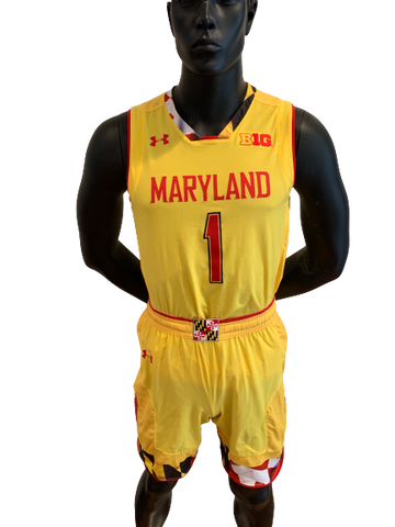 Anthony Cowan Maryland Basketball Game Worn Uniform Set (Jersey + Shorts) - Photo Matched