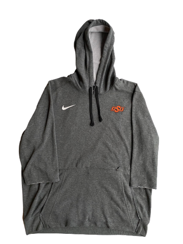 Kaden Polcovich Oklahoma State Team Issued 3/4 Sleeve Hoodie (Size L)