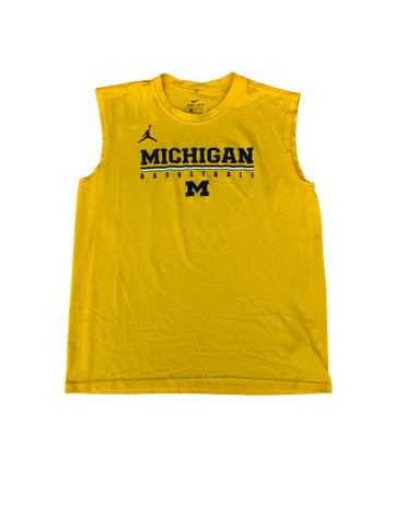 Kayla Robbins Michigan Basketball Workout Tank (Size M)