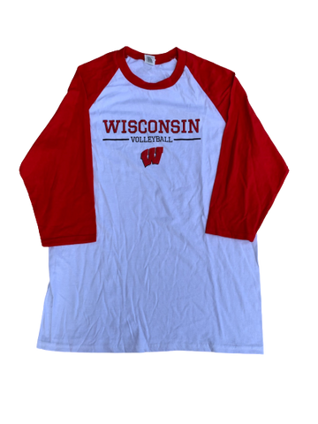 Tionna Williams Wisconsin Volleyball 3/4 Sleeve Shirt (Size M)