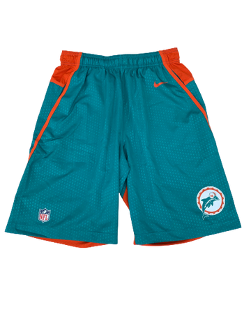 Miami Dolphins Retro Logo Workout Shorts (Size M)