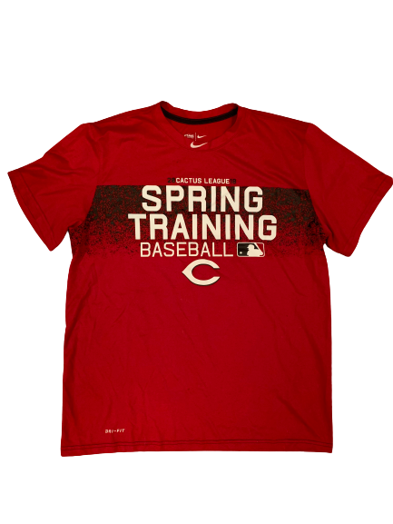 Packy Naughton Cincinnati Reds 2018 Spring Training T-Shirt (Size L)