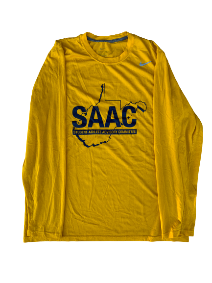 "Chase Illig West Virginia Baseball ""SAAC"" Long Sleeve Shirt (Size L)"