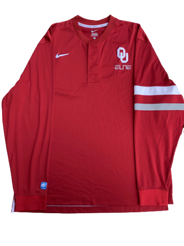James Fraschilla Oklahoma Basketball Pre-Game Warmup Long Sleeve (Size L)