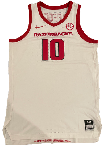 Daniel Gafford 2018-2019 Arkansas Basketball Game Worn Jersey - Photo Matched