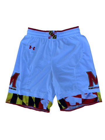 Anthony Cowan Maryland Basketball Game Worn Shorts