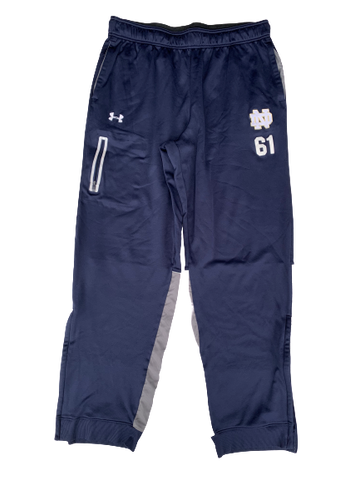 Scott Daly Notre Dame Football Parachute Pants with #61 (Size XL)