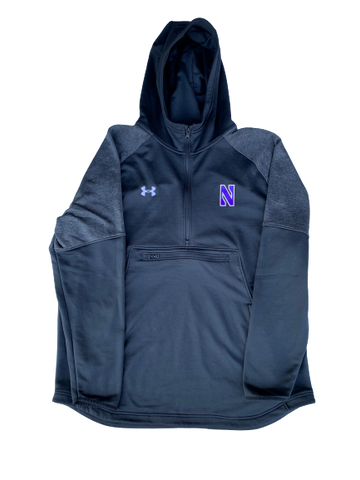 Gunnar Vogel Northwestern Football PE Hoodie with #73 (Size XXL)