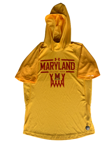Anthony Cowan Maryland Basketball Pre Game Warm-Up Hoodie (Size M)