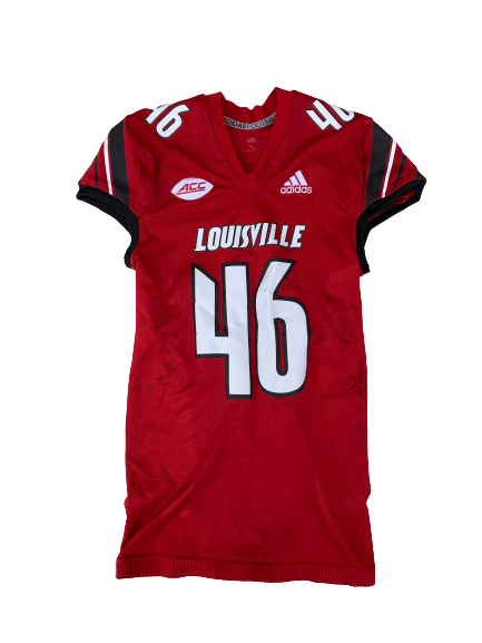 Ean Pfeifer Louisville Football Game Worn Jersey (Size XL)