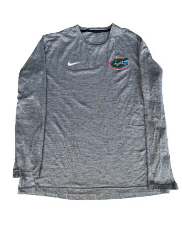 Nick Oelrich Florida Football Team Issued Long Sleeve Shirt (Size L)