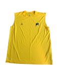 Shea Patterson Michigan Team Issued Jordan Sleeveless Shirt (Size L)