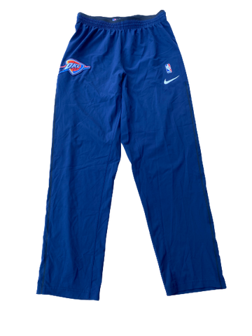 Kyle Singler Oklahoma City Thunder Game Snap-Off Warm-Up Pants (Size XLT)