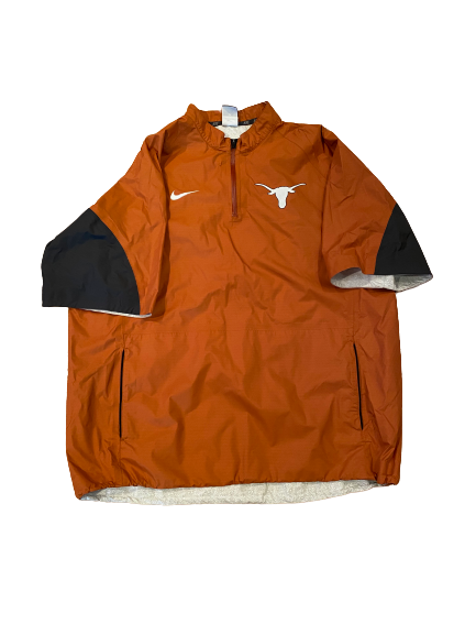 Ty Culbreth Texas Baseball Team Issued Quarter-Zip Pullover (Size XL)