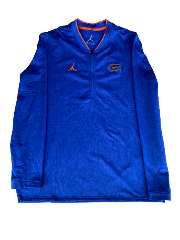 Nick Oelrich Florida Football Team Exclusive Quarter-Zip Pullover (Size L)