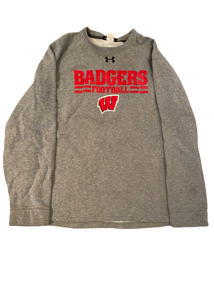 Reggie Love Wisconsin Football Under Armour Crewneck With Name and Number on Back (Size XL)
