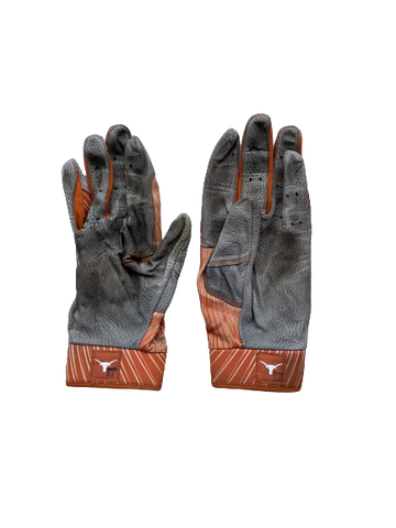 Morgan Cooper Texas Baseball Game Worn Player Exclusive Batting Gloves