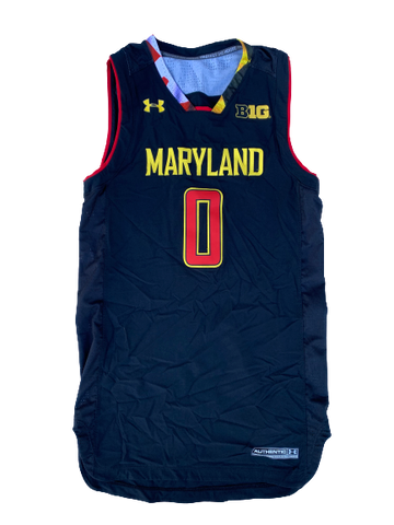 Anthony Cowan Maryland Basketball Game Worn Jersey