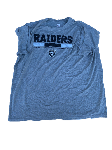 Kendall Calhoun Oakland Raiders Team-Issued T-Shirt (Size XXXL)