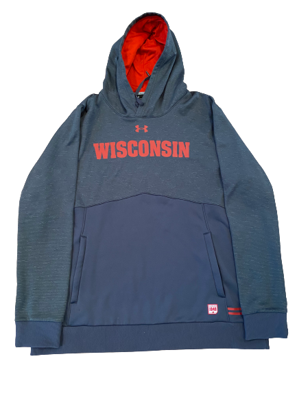 Khalil Iverson Wisconsin Under Armour Sweatshirt (Size XXL)