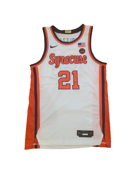 Marek Dolezaj Syracuse Basketball SIGNED 2019-2020 Game Worn Jersey (Size 46)