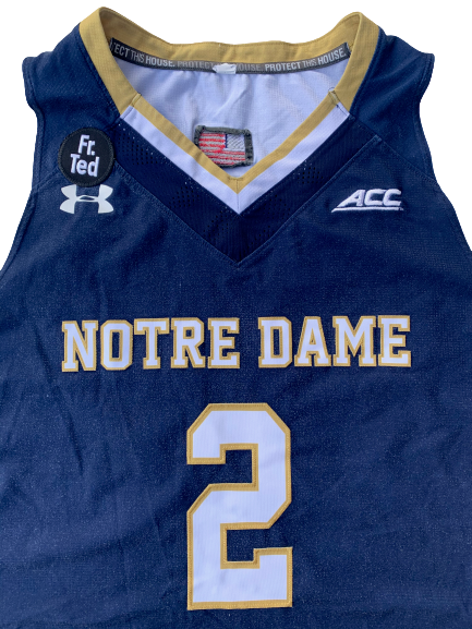 Arike Ogunbowale Notre Dame 2015-2016 (Freshman Year) Basketball Game Worn Jersey - Photo Matched